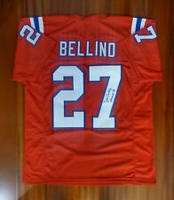 Joe Bellino Autographed Signed Jersey New England Patriots JSA