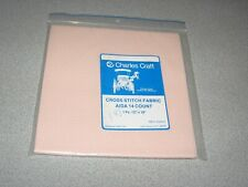 "New ListingCharles Craft Cross Stitch Fabric 14 Count Nip Pink 12"" X 18"""