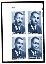 US  3501  Roy Wilkins 34c -Plate Block of 4 - MNH - 2001 - P11 UL