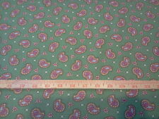 """2 yards Paisley on Green 100% Cotton Fabric- 44"""" wide"""