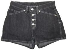 JORDACHE Black Faded Vintage High-Rise Button Fly Denim Jean Shorts SIZE 7 / 8