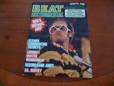 BEAT INSTRUMENTAL JANUARY 1975 ELTON JOHN, JETHRO TULL, JOHNNY WINTER *AS PICS*