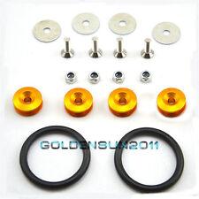 Universal Quick Release Fastener Bumper Fender Trunk Hatch Screws Kit Set Golden