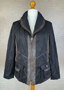 BONITA Damen Gr. 48 Crash Blazer Jacke schwarz braun Jacket Herbst Winter 5A9