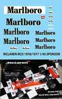 1/43  MCLAREN M23 1976 1977 HUNT MASS DECALS TB DECAL TBD58