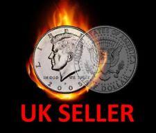 MAGIC HALF DOLLAR SPLIT COIN / US 50 CENT SPLIT COIN MAGIC TRICK - COIN THRU BAG