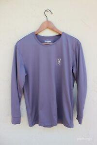 VINTAGE Playboy Unisex Medium pastel purple thermal long-sleeve shirt