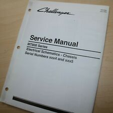 CATERPILLAR CHALLENGER MT800 Series Tractor CHASSIS Service Schematic Manual CAT