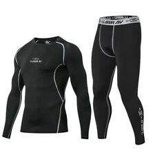Men Sport Tights Clothes Compression Fitness Yoga Running Training Pants Suit