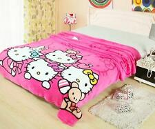 """For Hello Kitty Super Cute Supersoft Plush Bedroom Blanket Throw Cover 59""""x78"""""""