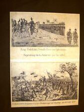 Re Federico VII + Stendrup + Condannati + Mostro marino Stampa pop. Scandinavia