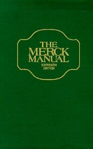 Merck Manual of Diagnosis and Therapy Hardcover Robert Berkow