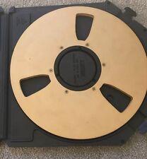 "3M 996 Audio Mastering Tape Gold Take Up Reel 1/2""x10.5"" Original Plastic Case"