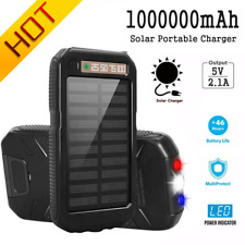 New listing 2021 1000000mAh Solar Power Bank Portable 2Usb Battery Charger For Cell Phone