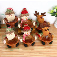 FJ- MERRY CHRISTMAS CANDY STORAGE BASKET DECORATION SANTA CLAUS STORAGE BASKET F