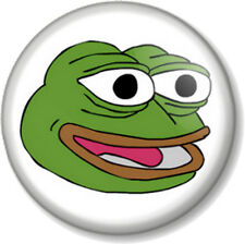 "PEPE THE FROG HAPPY FACE 25mm 1"" Pin Button Badge Internet Meme 4chan Humour Alt"