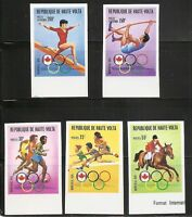 Burkina Faso SC # 390-392- C231, C235 Olympic Games Montreal . Imperforated. MNH