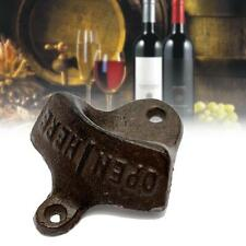 1x Cast Iron Vintage Rustic Style Collectable Wall Mounted Beer Bottle Opener HO