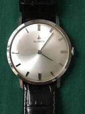 Ancienne montre plate watch BUREN 818811 bracelet cal 30 17 jewel ( Hamilton )