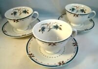 Royal Doulton Tea Cups Saucers Old Colony Set of 3 China TC1005 Made In England