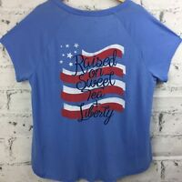 "Red Camel Women's ""Southern & Sweet Tea"" Top T-Shirt Blue Size 1X  NWOT"