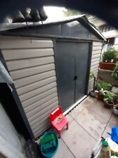Metal shed With Plastic Ground Panels 10ft X 6ft (London NW8)