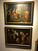 17th century Baroque Painting Pair St. John Martyrdom Salome after Rubens