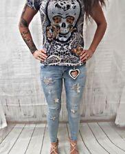 Damen-Jeans mit Glanz-Effekt Hosengröße Größe 44 in Übergröße