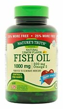 Nature's Truth Fish Oil 1000mg Softgels Tablets 125 Each