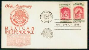 Mayfairstamps US FDC 1960 Mexican Independence Bell Block First Day Cover wwm_24