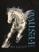 Vintage 90's Kentucky Derby 1994 Horse Racing Festival Mens T Shirt Large L USA