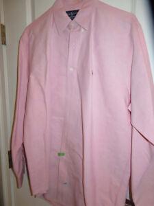 Men's Ralph Lauren YARMOUTH 100% COTTON OXFORD 16  34/35  Pink Dress Shirt