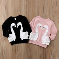 UK Baby Kids Girl Boy Pullover Blouse Cotton Top T Shirt Tee Long Sleeve Clothes
