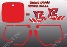 YAMAHA 1988 YZ490 YZ 490 DECAL GRAPHIC KIT LIKE NOS WICKED TOUGH DESIGN