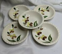 Vintage Blue Ridge Southern Pottery Sunny Spray Pattern Small Berry Bowls 6 inch