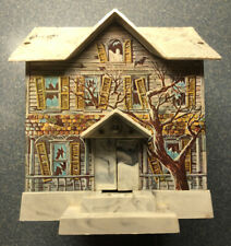 1960s Disney Haunted House Mystery Bank Tin Litho Battery Operated Toy