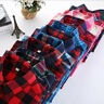Plaid Shirt College Style Women's Long Sleeve Flannel Casual Blouses Tee shirt