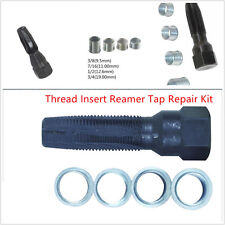 14MM Spark Plug Rethread Tool 4 Inserts Thread Reamer Tap Repair KIT Universal