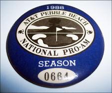 Vintage 1988 AT&T Pro-Am Golf Pebble Beach Season Pass button pin #0664