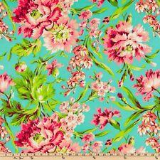 Amy Butler Love Bliss Bouquet Teal 100% Cotton Half Yard 45cm x 110cm