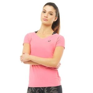 Asics Womens Performance V-Neck Running Top, Camelion Rose, XL, BNWT