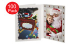 NEW- Santa Sleigh 4x6 Christmas Photo Folders  Pack of 100  Tap - Card Stock
