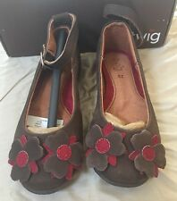TWIG  Adorable GIRLS Brown  LEATHER Mary Janes  SZ 11 New in Box