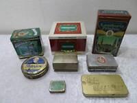 8 x Blechdose - Konvolut Sammlung - Reklame Werbung - Vintage