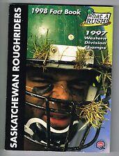 1998 Saskatchewan Roughriders CFL Canadian Football League Media GUIDE