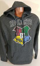 Harry Potter Hogwarts Large Mens Sweatshirt  Black Gray Blend Hooded