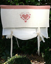 Raff Gardine CLARA Offwhite Natur Rollo 60x90 Shabby Chic Vintage Landhausstil