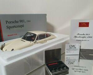 CMC 1:18 Porsche 901 Sport Coupé 1964 Ivory Réf M-067C Numéroté Très Rare