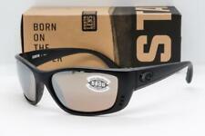 COSTA DEL MAR FISCH SUNGLASSES Blackout/Silver Mirror 580G Glass Polarized lens