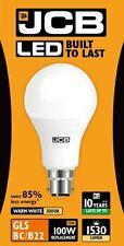 3 x 15W = 100W LED Bayonet / BC / B22 GLS Low Energy Light Bulb Warm White - JCB